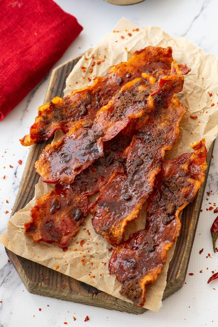 Sweet amp Spicy Oven Baked Bacon -