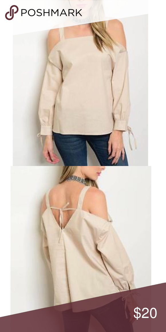 d4bdfe837b Taupe Cold Shoulder Top Taupe Size Small Cold Shoulder Top 100% Cotton  Machine wash cold
