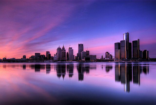 Detroit Skyline Hdr Detroit Skyline Detroit City Skyline