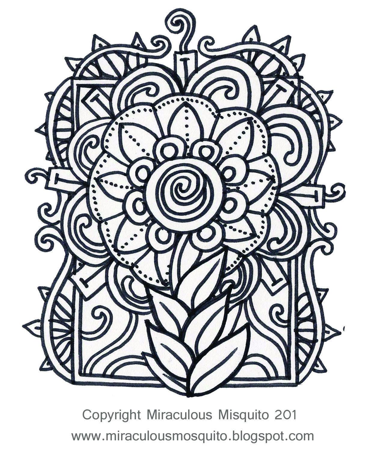 malvorlagen ornamente blumen  top kostenlos färbung seite
