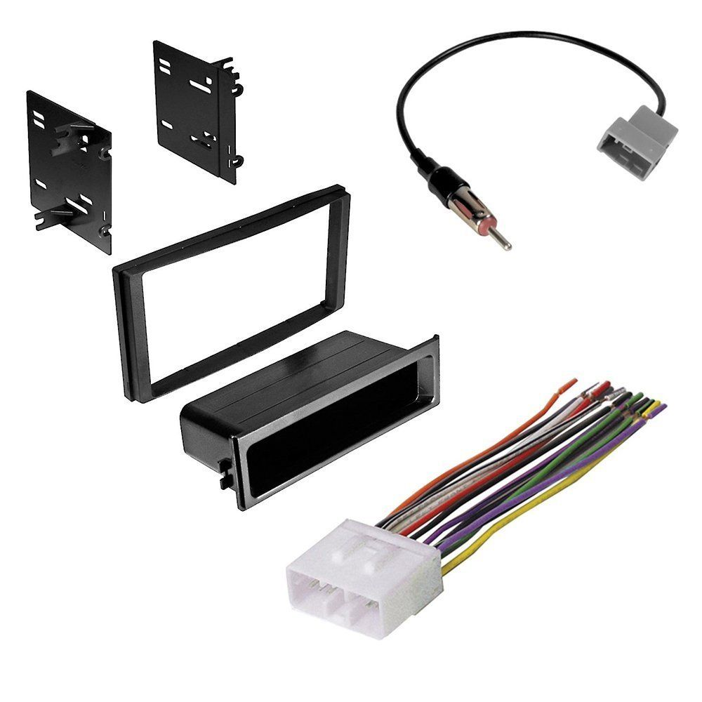 subaru forester impreza wrx double din radio stereo installation kit and wire harness antenna adapter [ 1000 x 1000 Pixel ]