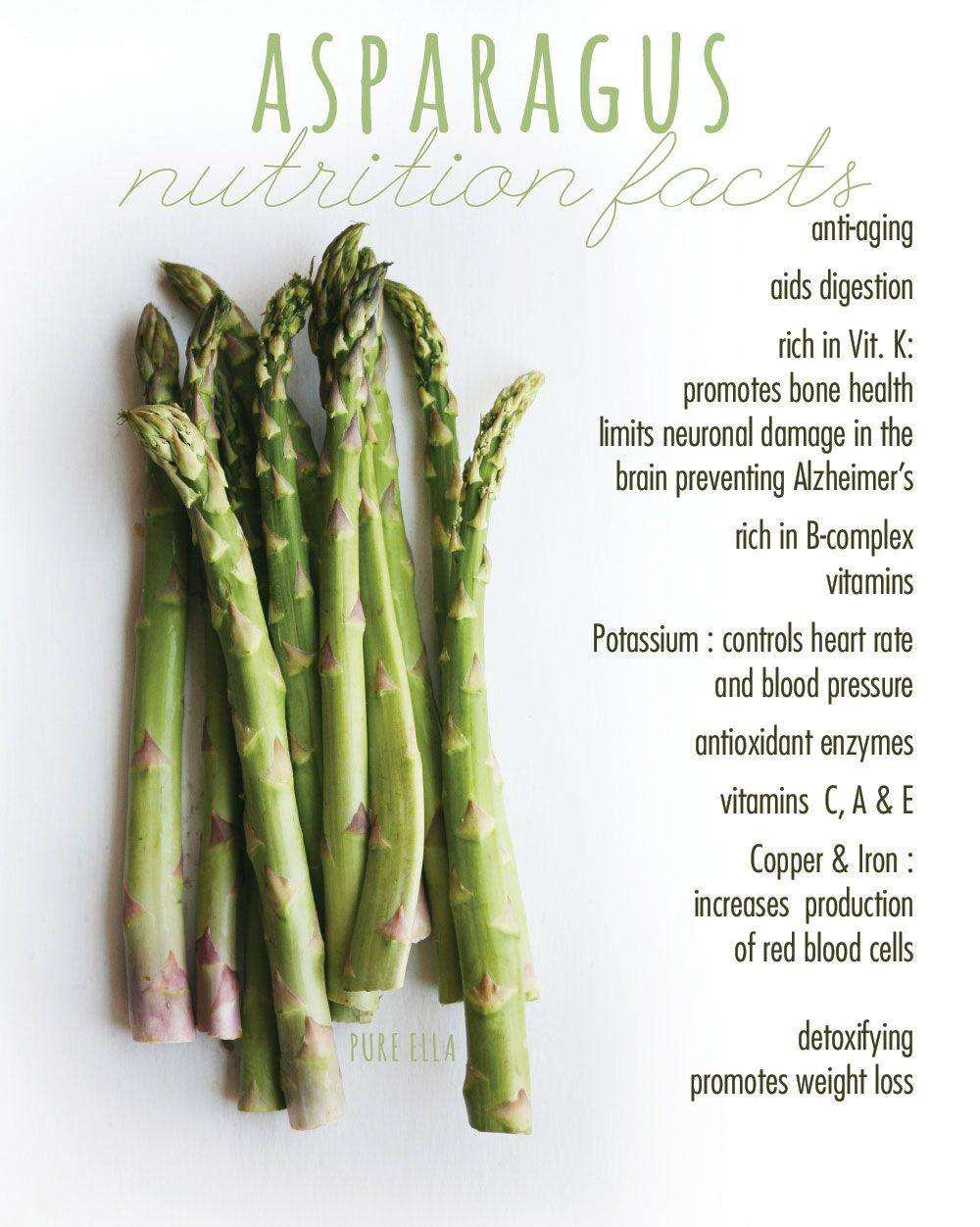 nutrition facts : health benefits of asparagus | asparagus