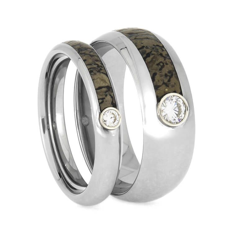 dinosaur bands bone rings ring wedding of