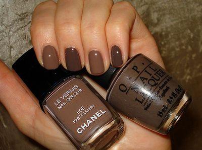 Pin By Moorea Seal On Nail Art Brown Nail Polish Brown Nails Chanel Nails