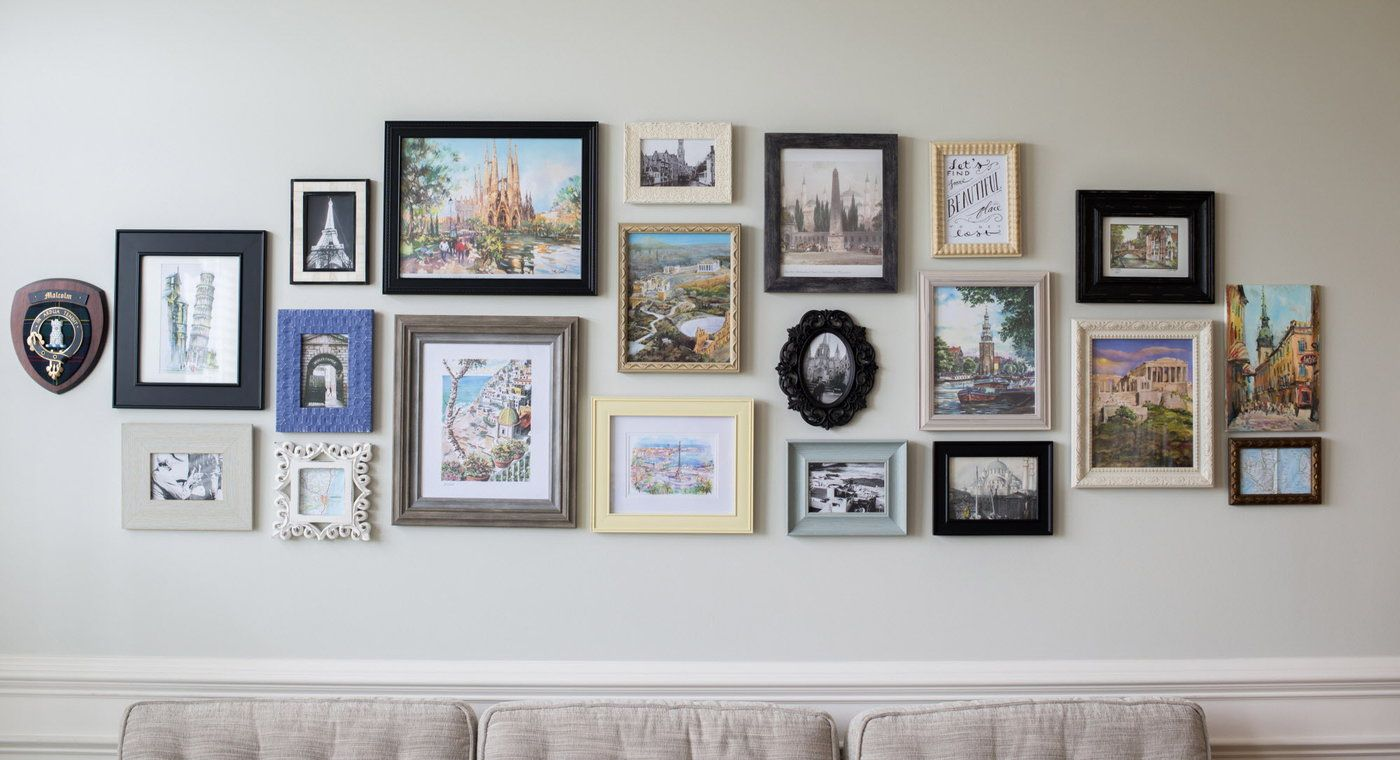Ways To Bring Your Vacation Home Travel Gallery Wall Diy Gallery Wall Gallery Wall