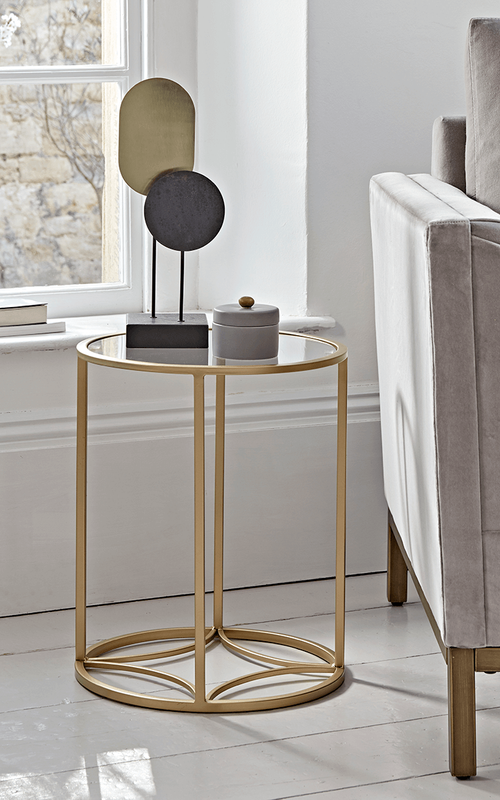 Round Gold Glass Side Table In 2020 Glass Side Tables Small