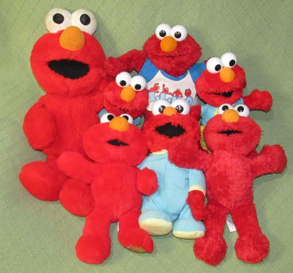 7 ELMO Sesame Street Dolls Plush 1997 TYCO Hokey Pokey Potty Ba Baby Toys