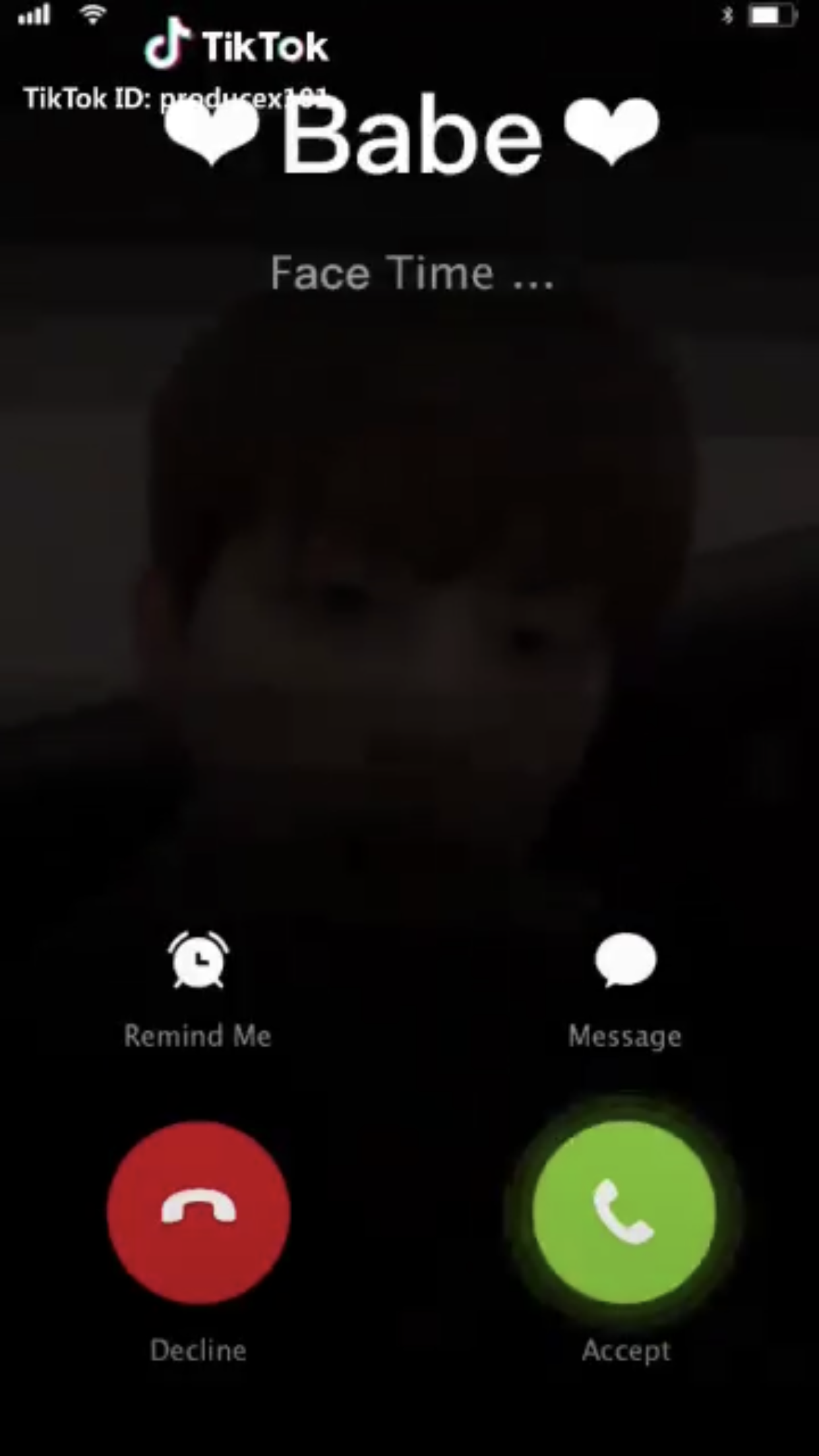 Pick Up A Video Call From Sihun