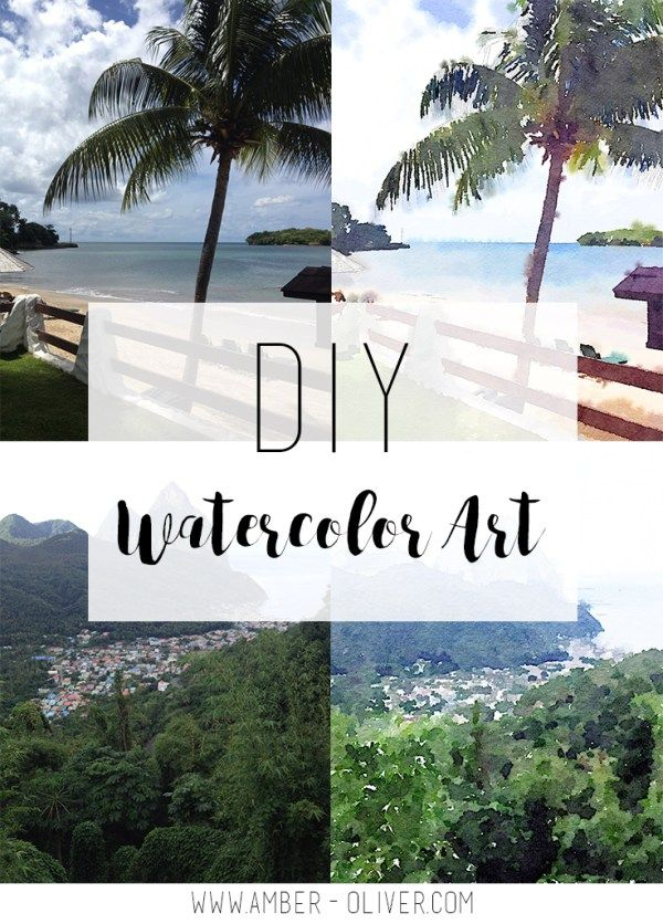 Inexpensive Art diy watercolor art - make custom art from your photos! | easy wall