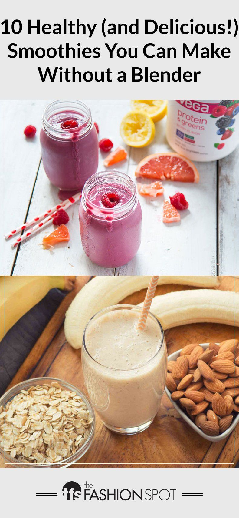 how to make a protein smoothie without a blender