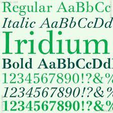 Iridium- FRUTIGER