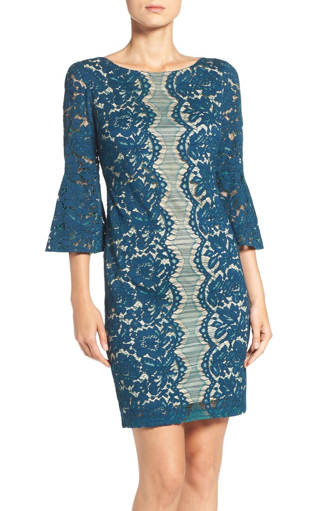 Gabby Skye Bell Sleeve Sheath Dress available at #Nordstrom ...