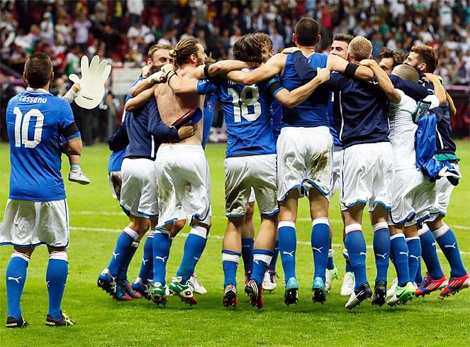 Italy - Spain. La final. Soccer eurocup 2012