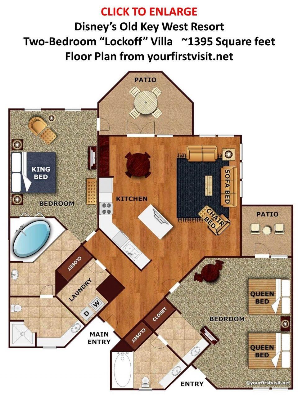 Disney Saratoga Springs 2 Bedroom Villa In 2020 Key West Resorts Disney Key West Resort Disney Hotels