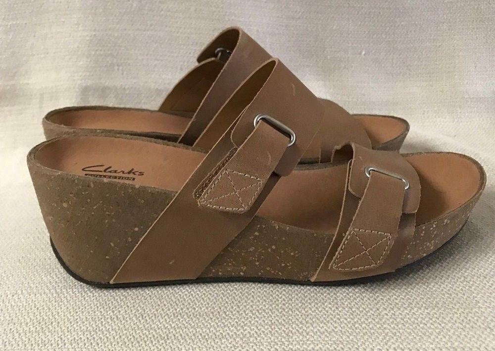 2e50df896f CLARKS Women's Auriel Till Wedge Sandal Size 7 Wide New No Box #Clarks  #PlatformsWedges