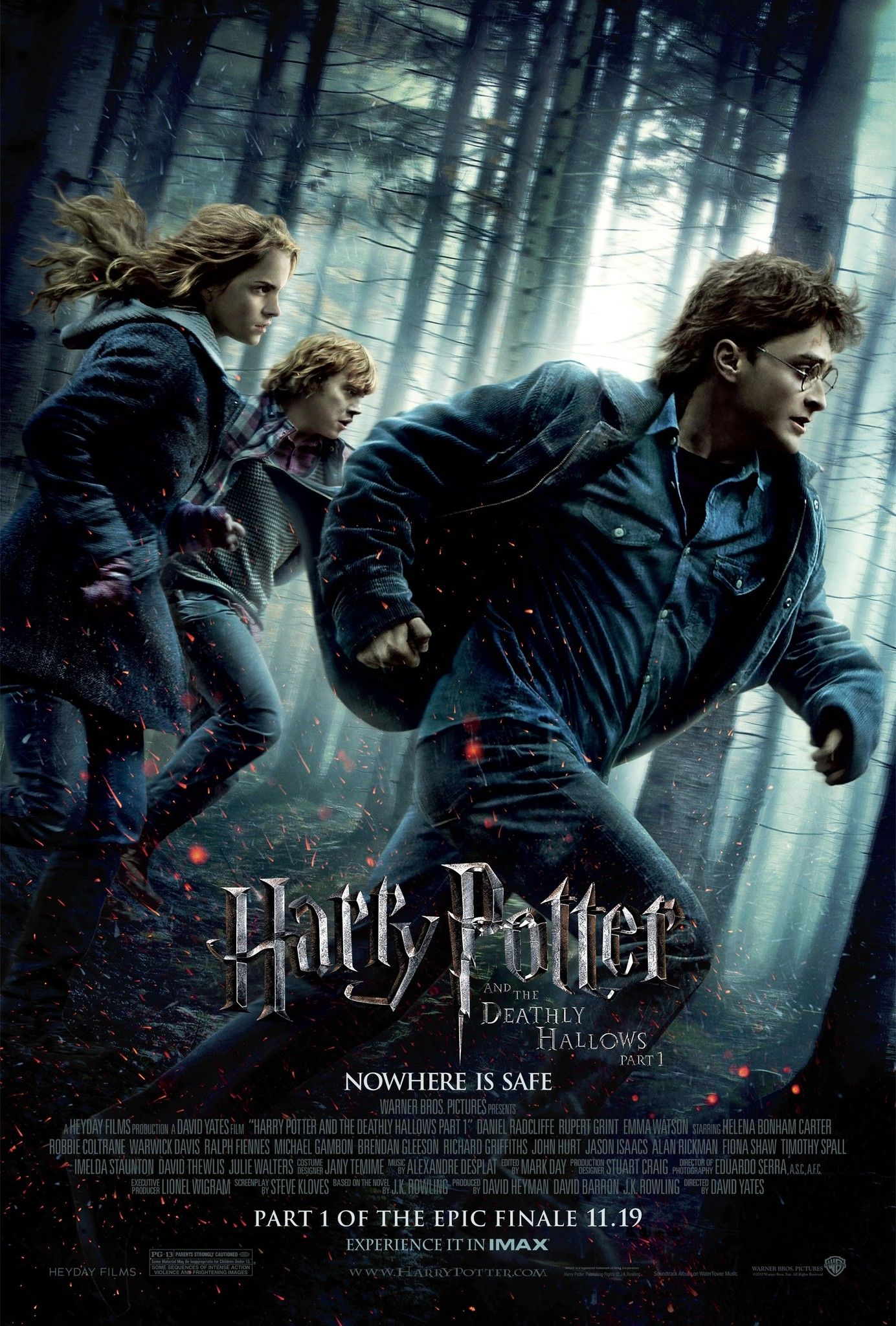 Harry Potter And The Deathly Hallows Part 1 2010 Harry Potter Filmes Cartaz Harry Potter