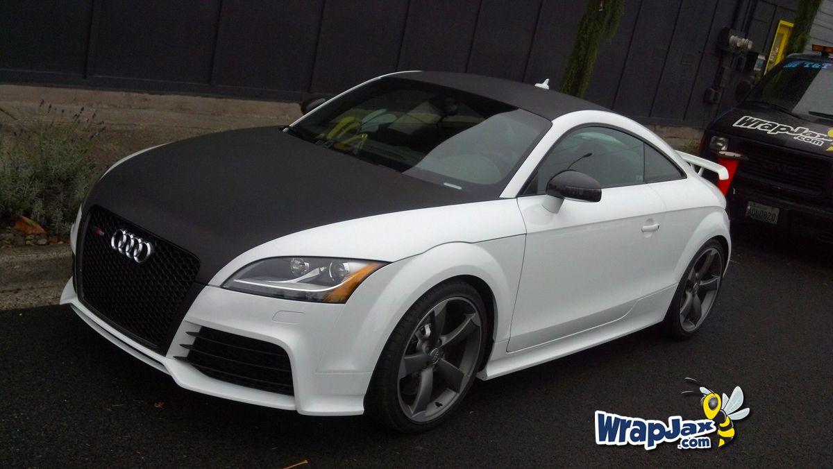 Wrapjax Com Audi Tt Carbon Fiber Wrap On Hood Roof And Trunk Wrapjax Audi Carbon Fiber Wrap Carbon Fiber Vinyl