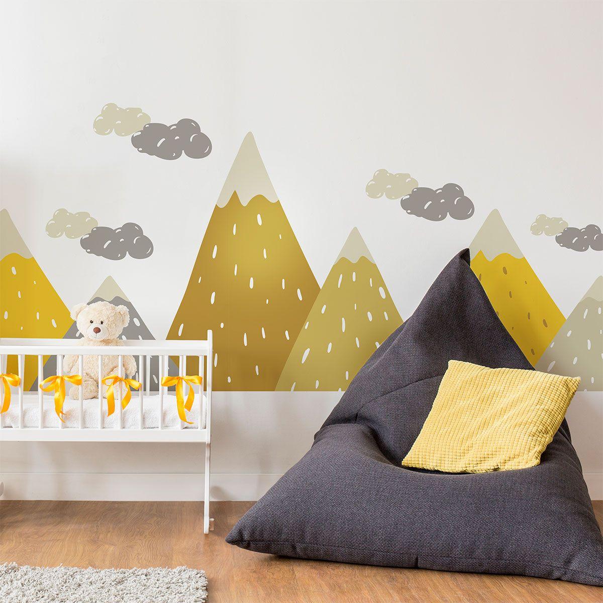 Stickers enfant montagnes scandinaves gopika  Chambre bébé, Déco