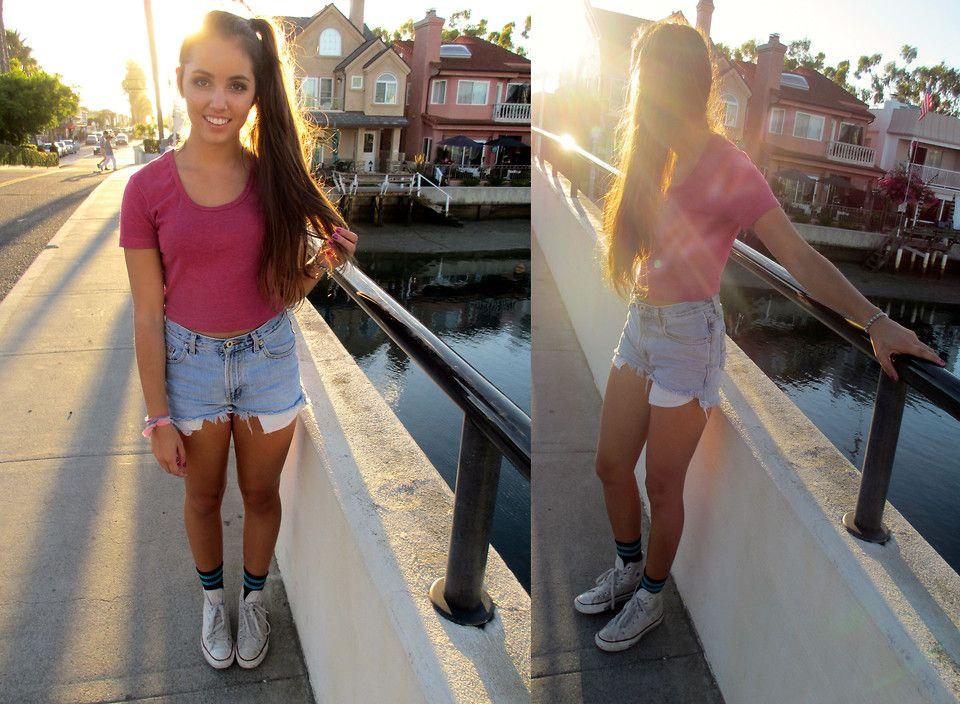 white shorts socks wearing girls Teen