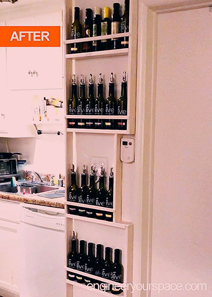 """Photo of How to Engineer Your """"Vertical"""" Space: Tiny Kitchen DIY Shelf Storage Idea DIY"""