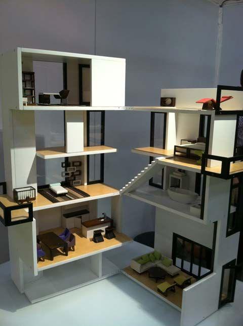 Miniaturas Jm Casas De Munecas Casas De Munecas Casa Moderna De Munecas Casas Para Barbies