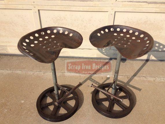 Tractor Seat Bar Stool Set On Etsy 750 00 Barst 252 Hle