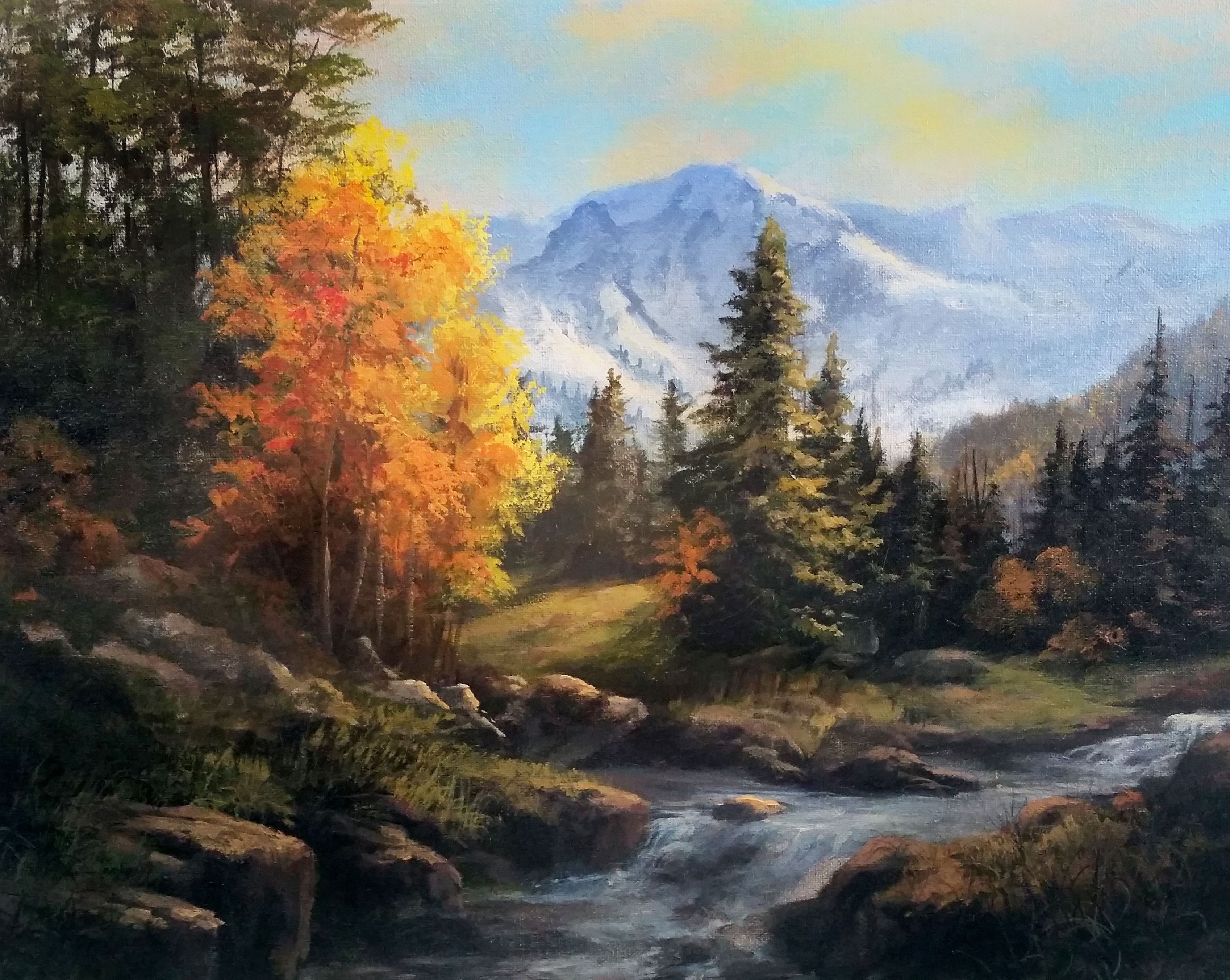 """""""acrylic Landscape"""" Acrylic Painting Kevin Hill Watch"""