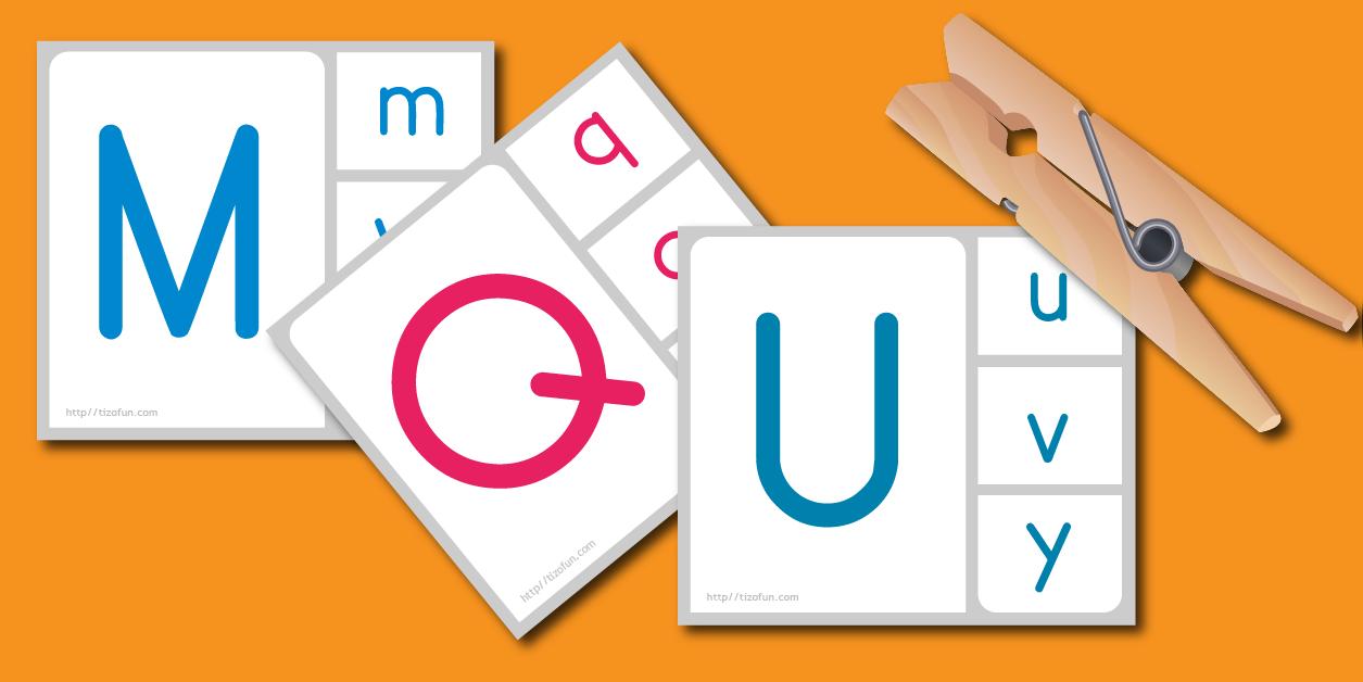 Correspondance majuscule minuscule script gs lettre a - Lettres alphabet maternelle ...