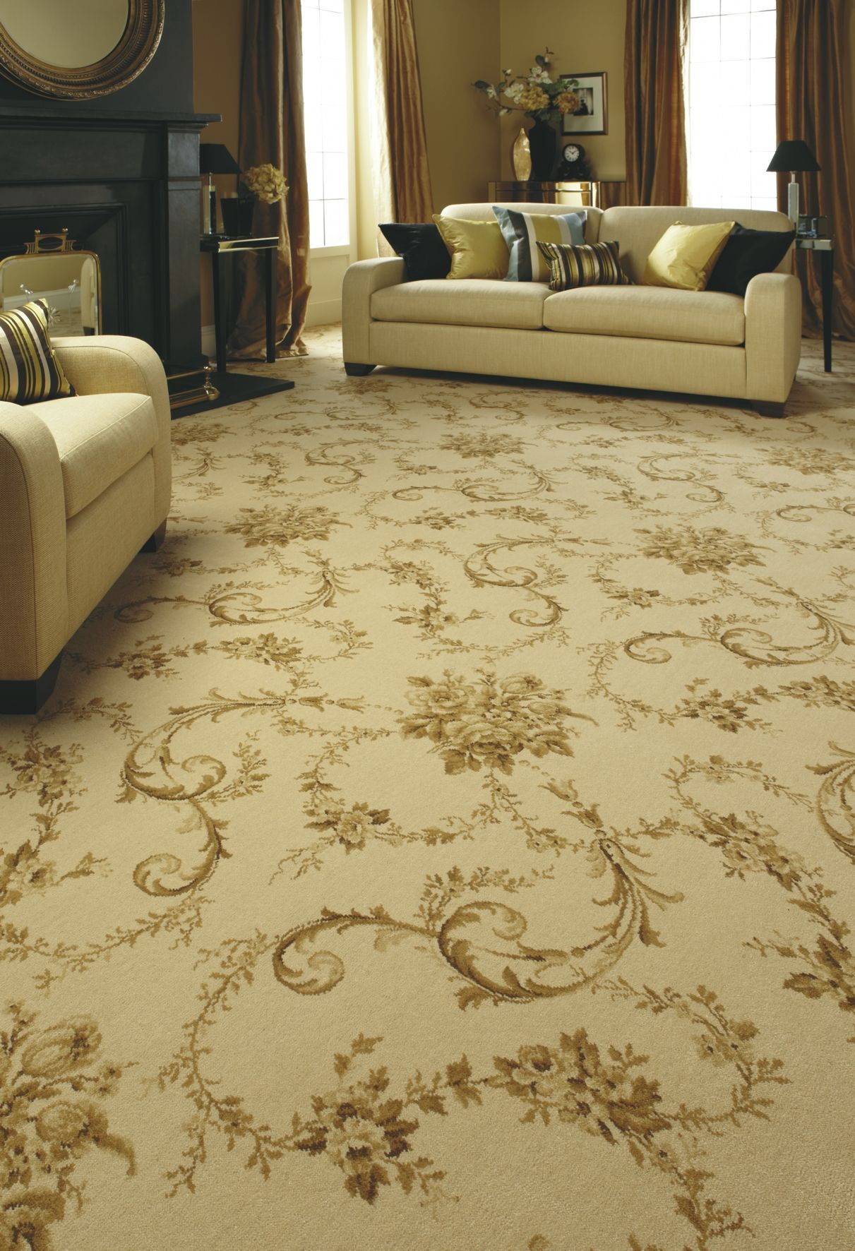 Axminster Carpets Versailles In Soft Cream Patterned