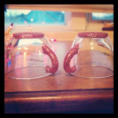 Beautiful glittler tea cup set of two by KeilynsTieDyeFor on Etsy, $12.00