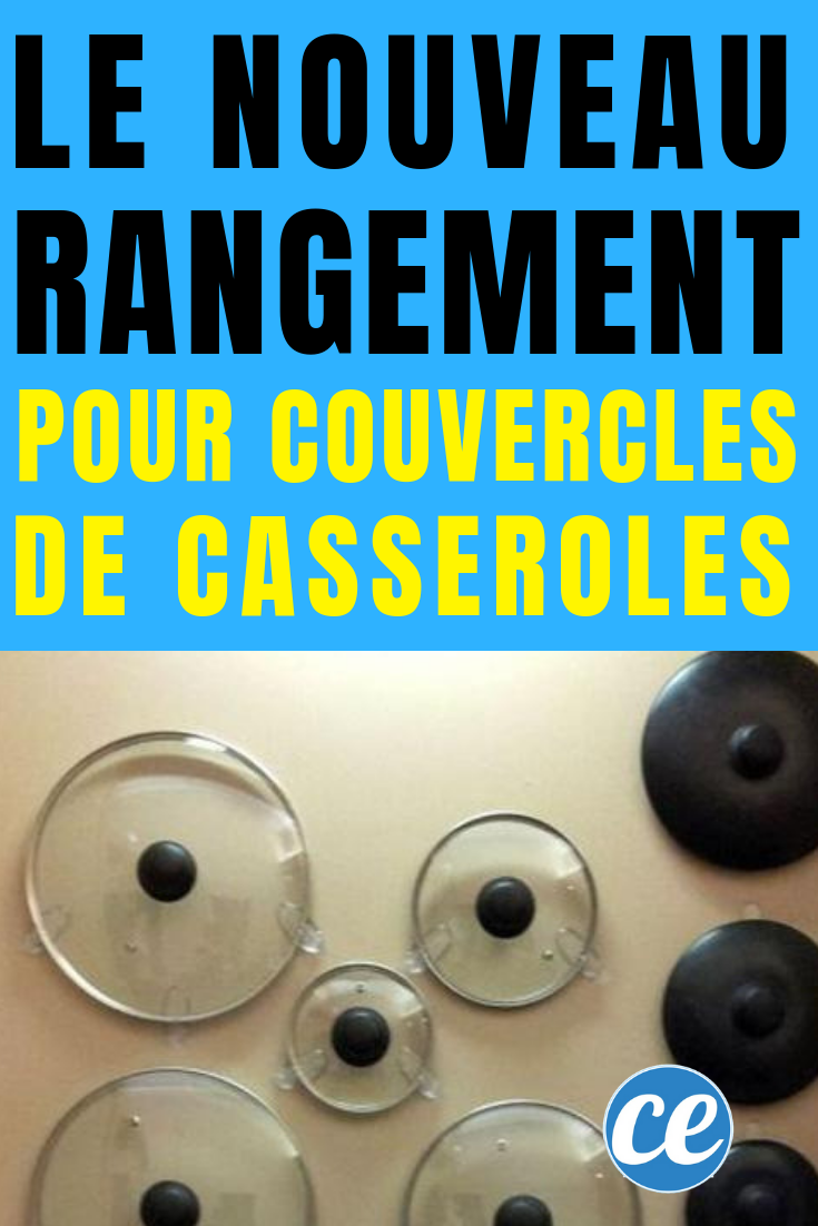 LE Nouveau Rangement Pour Couvercles De Casseroles. (avec