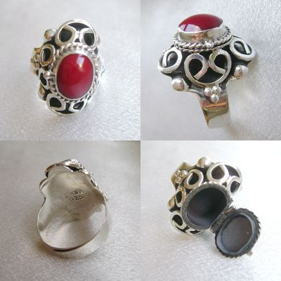 Ayala Moriel Natural Perfumes   Products   Red Jasper Mexican Poison Ring