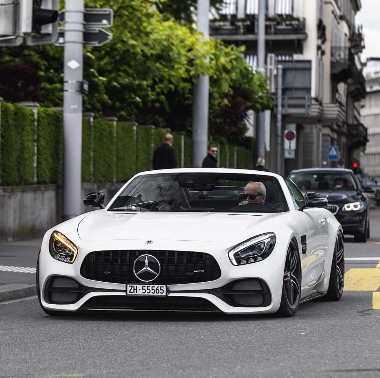 Mercedes Amg Gt C Painted In White Photo Taken By Srs Swissrichstreets On Instagram Mercedes Amg Sports Cars Luxury Mercedes