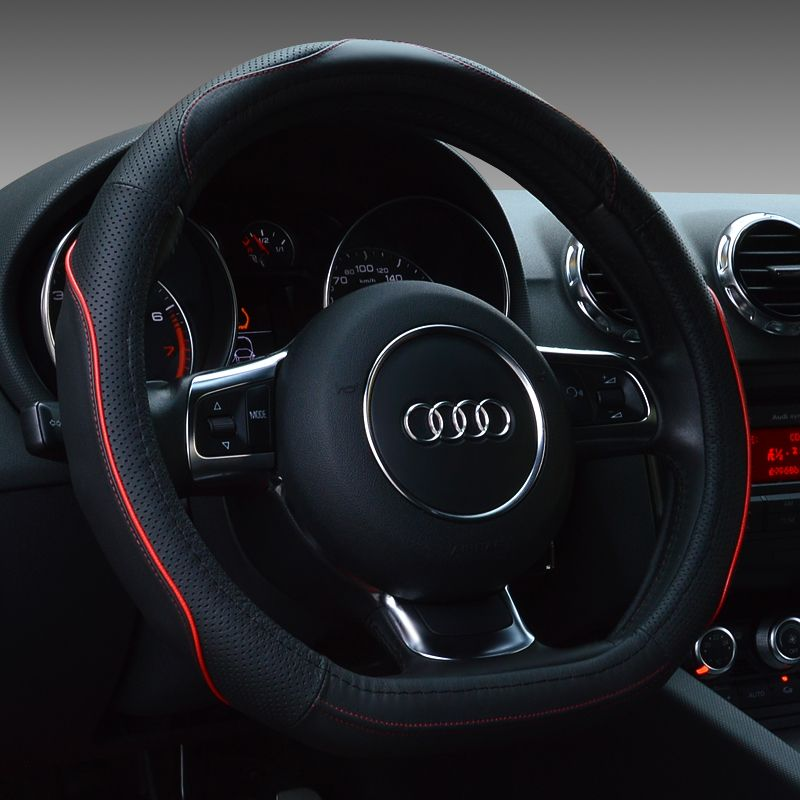 D Shape Genuine Leather Steering Wheel Cover For Audi A5 Tt S3 C200linterior Accessories Steering Wheel Cover Wheel Cover Interior Accessories