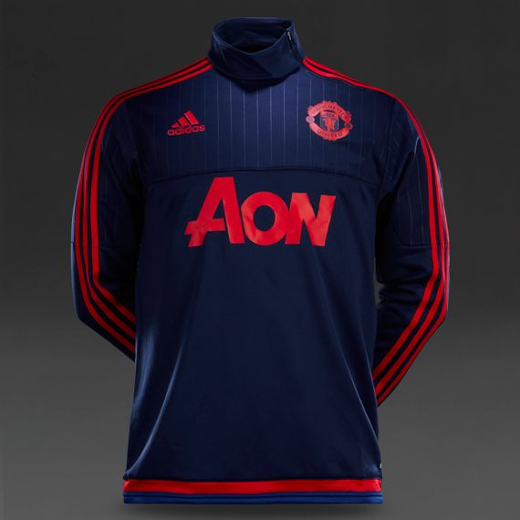 f3c93e0626c adidas Manchester United 15 16 Training Top - Dark Blue Scarlet Collegiate  Royal