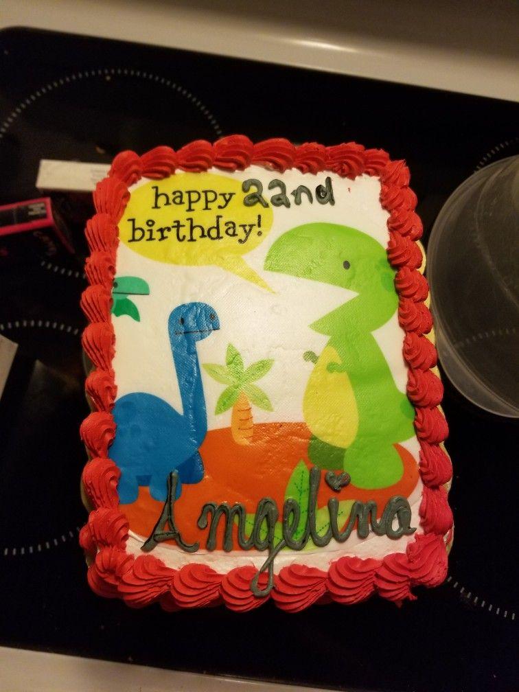 Dinosaur edible image birthday cake image birthday cake