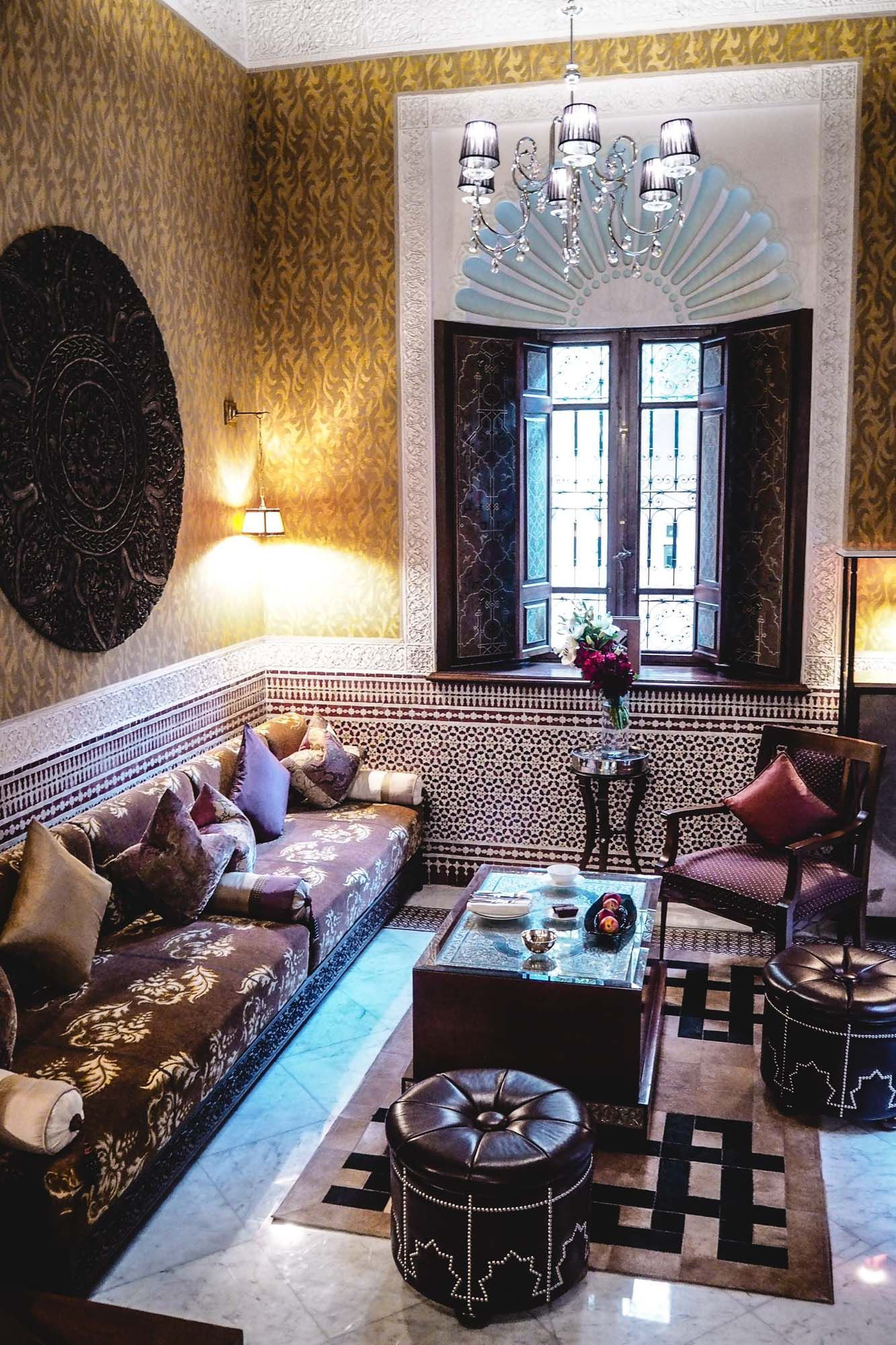 the royal mansour marrakech morocco, riad lounge area, luxury, Wohnzimmer dekoo