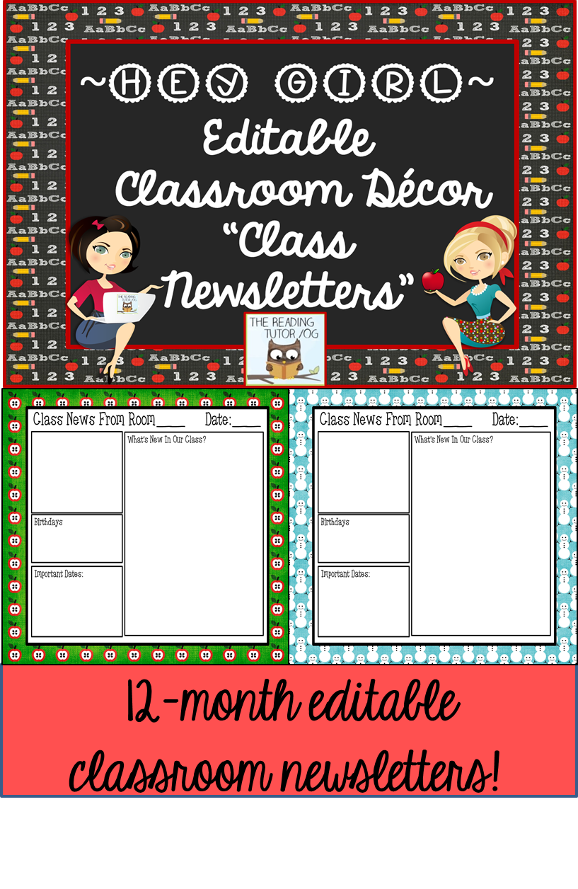 email bulletin template - newsletter editable templates back to school resources