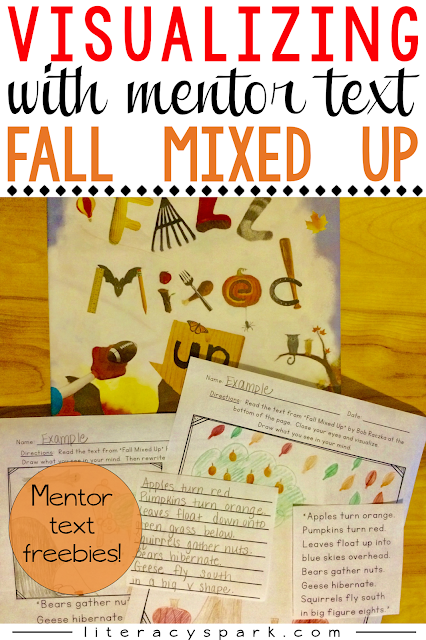 Need a new mentor text lesson for visualizing?  Check out these free activities to be used with