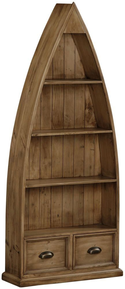 Global Home Cortona Recycled Pine Boat Bookcase