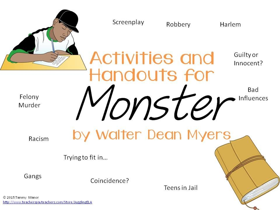 Activities and Handouts for Monster by Walter Dean Myers ...