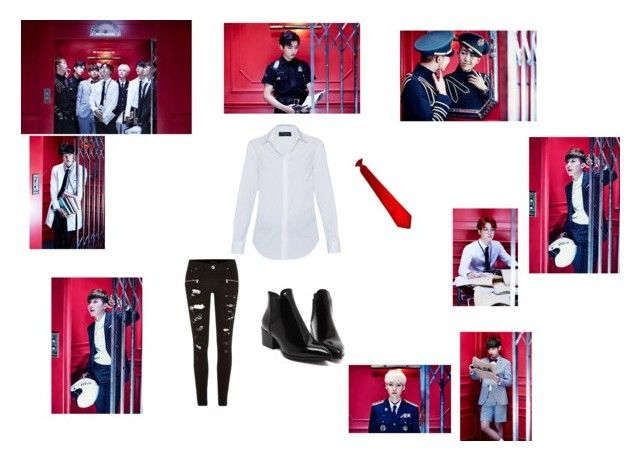 """""""BTS(방탄소년단) - DOPE(쩔어)"""" by skylar154 on Polyvore featuring River Island and Piazza Sempione"""