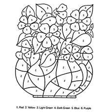 Top 25 Free Printable Flowers Coloring Pages Online | Number, Flower ...