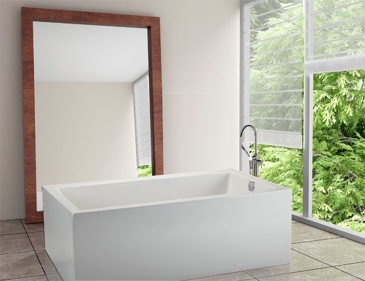 Andrea 12 Sculpted Finish Soaker Tub Free Standing Soaker Tub Tub