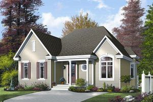Farmhouse Exterior - Front Elevation Plan #23-687 - Houseplans.com