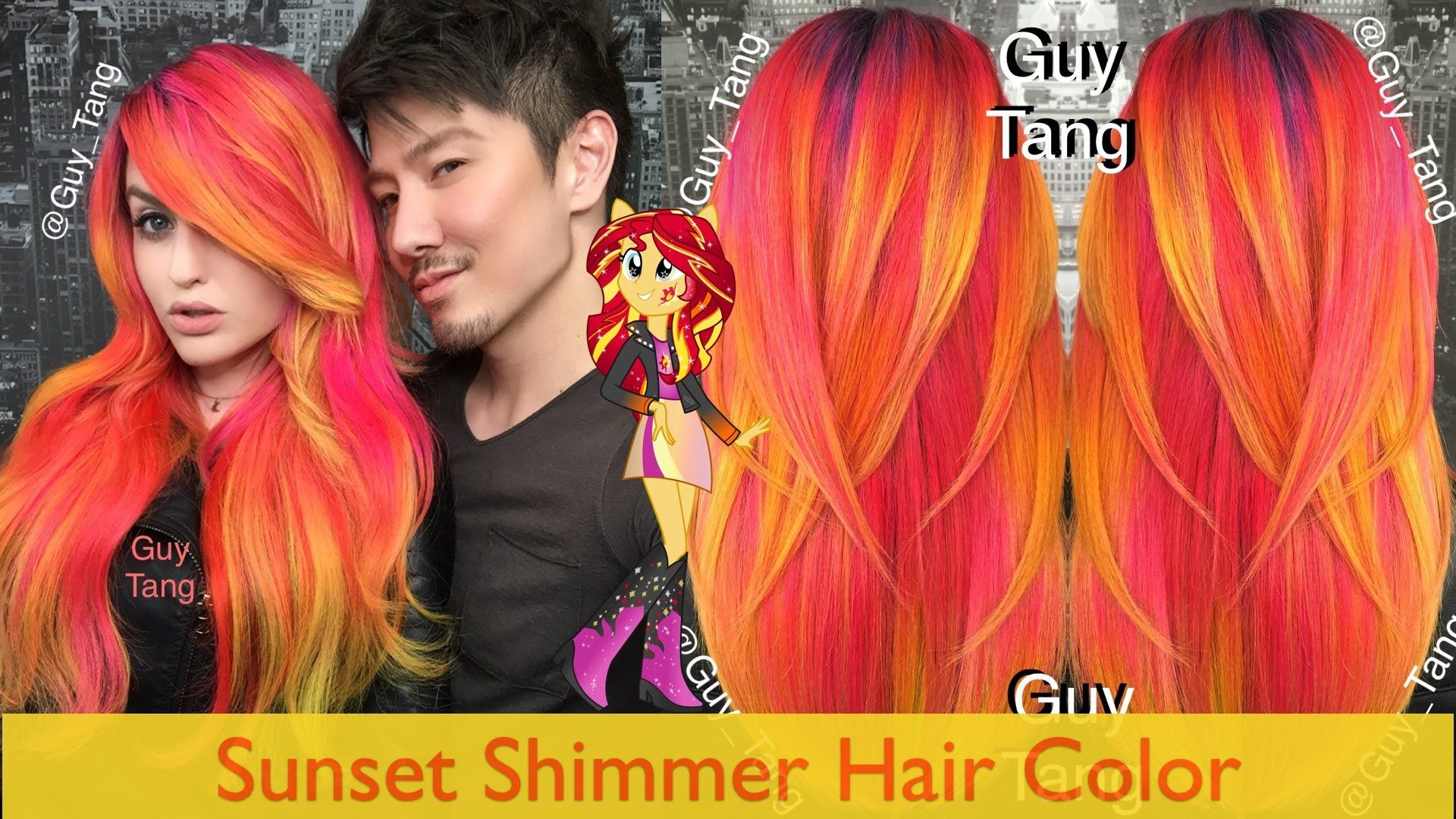 Sunset Shimmer Hair Color Video Up With Olaplex Balayage Ombre