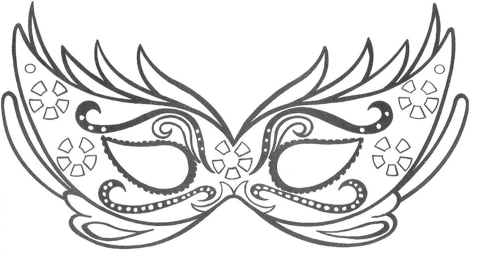 Imagens do Carnaval para imprimir e colorir   Antifaz, Carnavales y ...