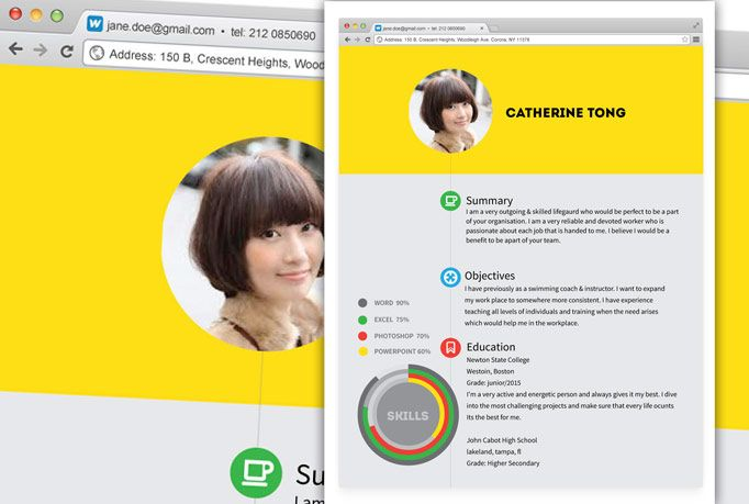Design of Resume - Set 4 Order now and get this unique browser