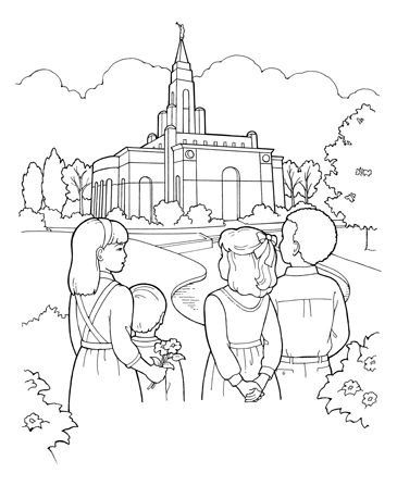LDS coloring pages I love to see the temple (as the song