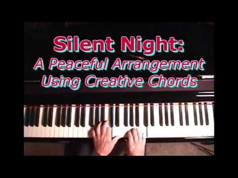 Silent Night Playing A Beautiful Arrangement On The Piano Piano